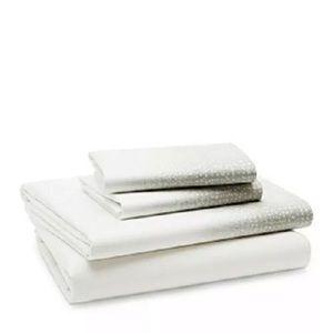 White and Gray Speckled Sheet Set Full